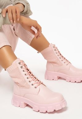 Anja rózsaszín női bakancsok